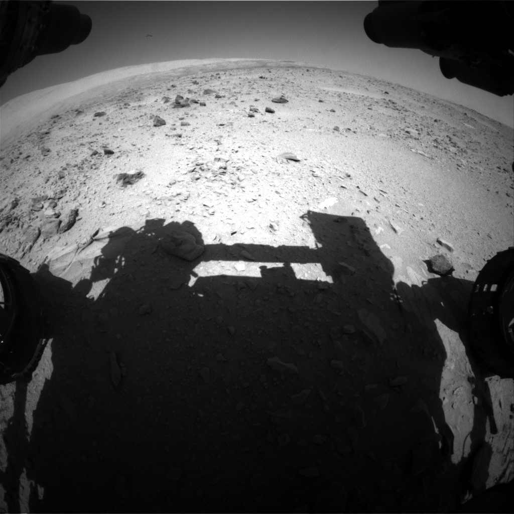 Nasa's Mars rover Curiosity acquired this image using its Front Hazard Avoidance Camera (Front Hazcam) on Sol 511, at drive 438, site number 25