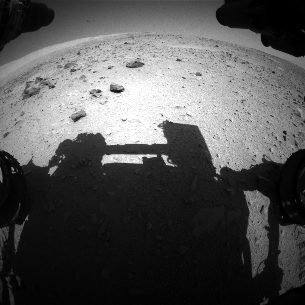 Nasa's Mars rover Curiosity acquired this image using its Front Hazard Avoidance Camera (Front Hazcam) on Sol 511, at drive 462, site number 25