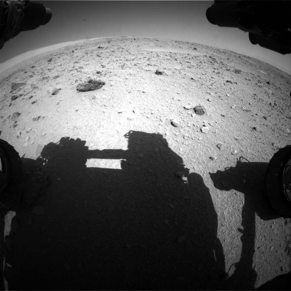 Nasa's Mars rover Curiosity acquired this image using its Front Hazard Avoidance Camera (Front Hazcam) on Sol 511, at drive 474, site number 25