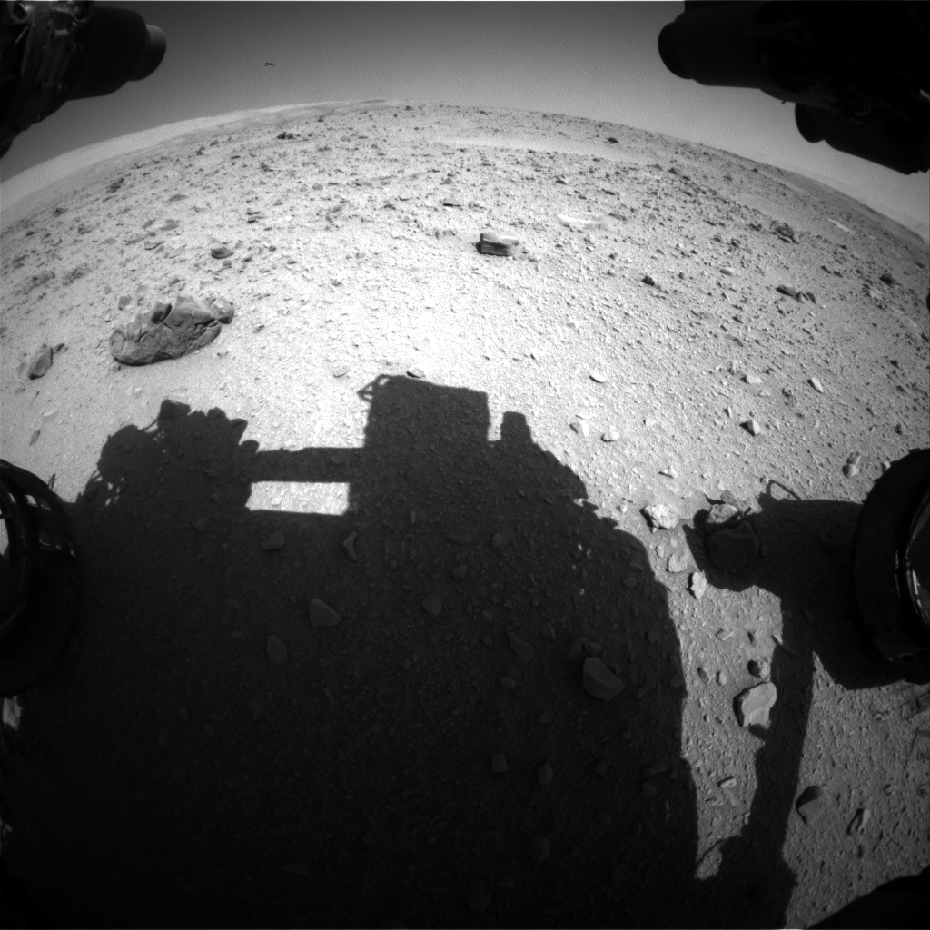 Nasa's Mars rover Curiosity acquired this image using its Front Hazard Avoidance Camera (Front Hazcam) on Sol 511, at drive 480, site number 25