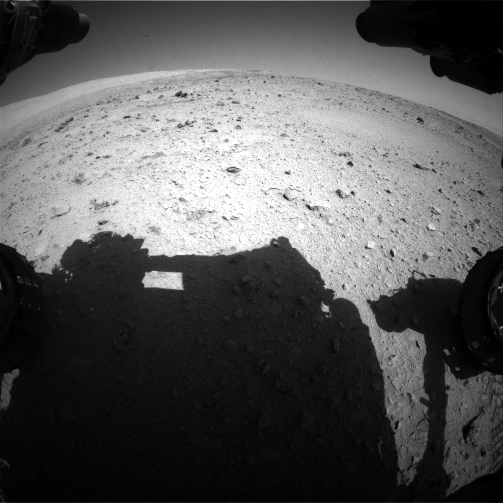 Nasa's Mars rover Curiosity acquired this image using its Front Hazard Avoidance Camera (Front Hazcam) on Sol 511, at drive 510, site number 25