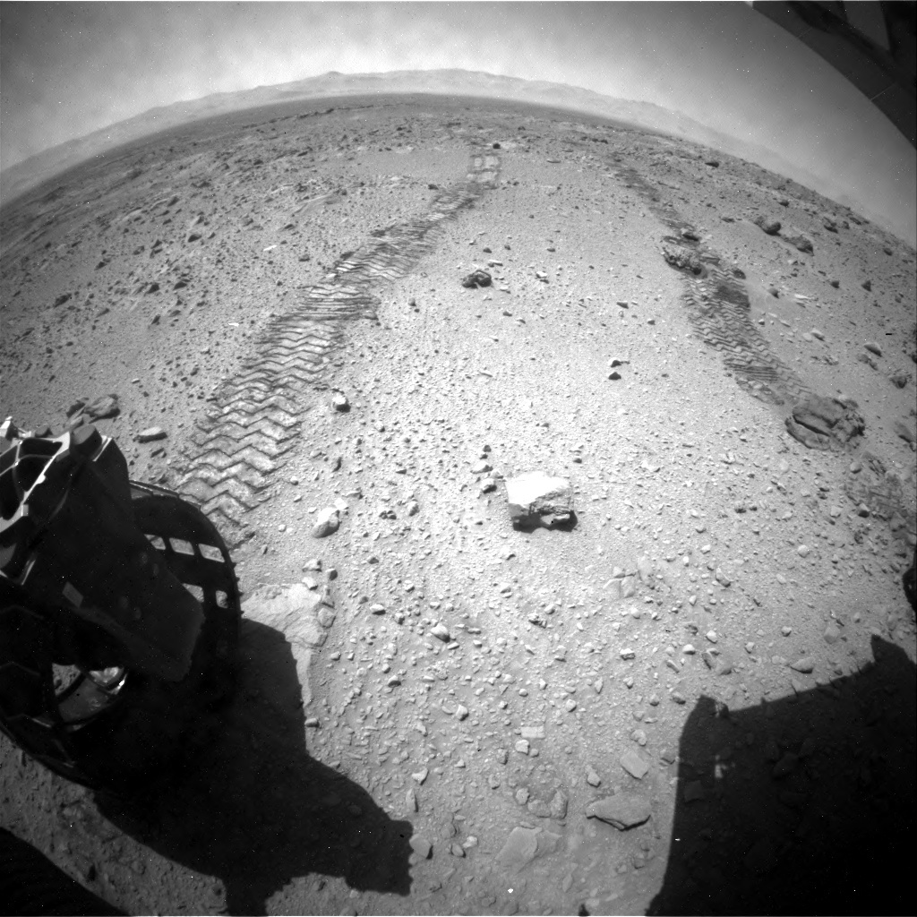 NASA's Mars rover Curiosity acquired this image using its Rear Hazard Avoidance Cameras (Rear Hazcams) on Sol 511