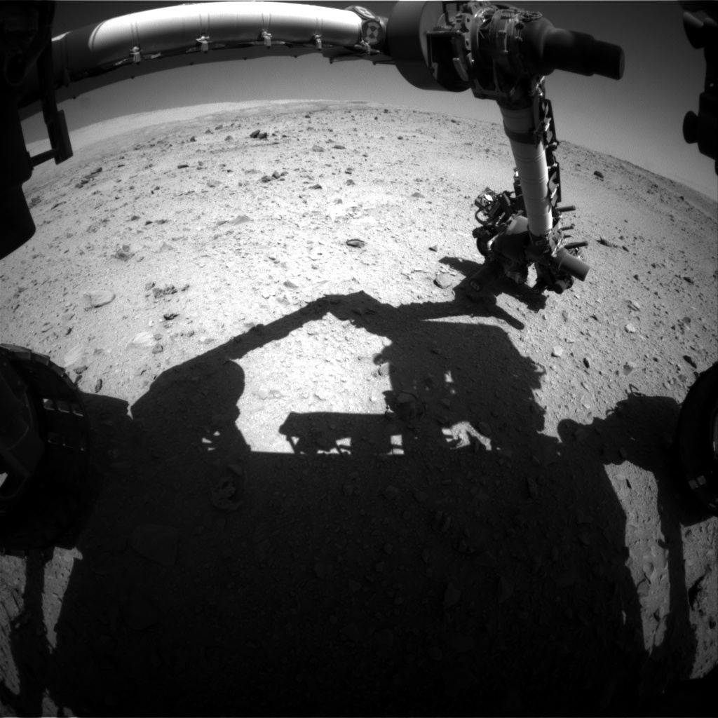 NASA's Mars rover Curiosity acquired this image using its Front Hazard Avoidance Cameras (Front Hazcams) on Sol 512