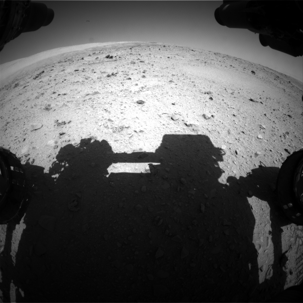 Nasa's Mars rover Curiosity acquired this image using its Front Hazard Avoidance Camera (Front Hazcam) on Sol 512, at drive 510, site number 25