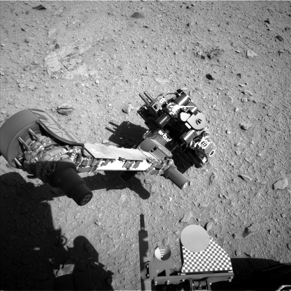 NASA's Mars rover Curiosity acquired this image using its Left Navigation Camera (Navcams) on Sol 512