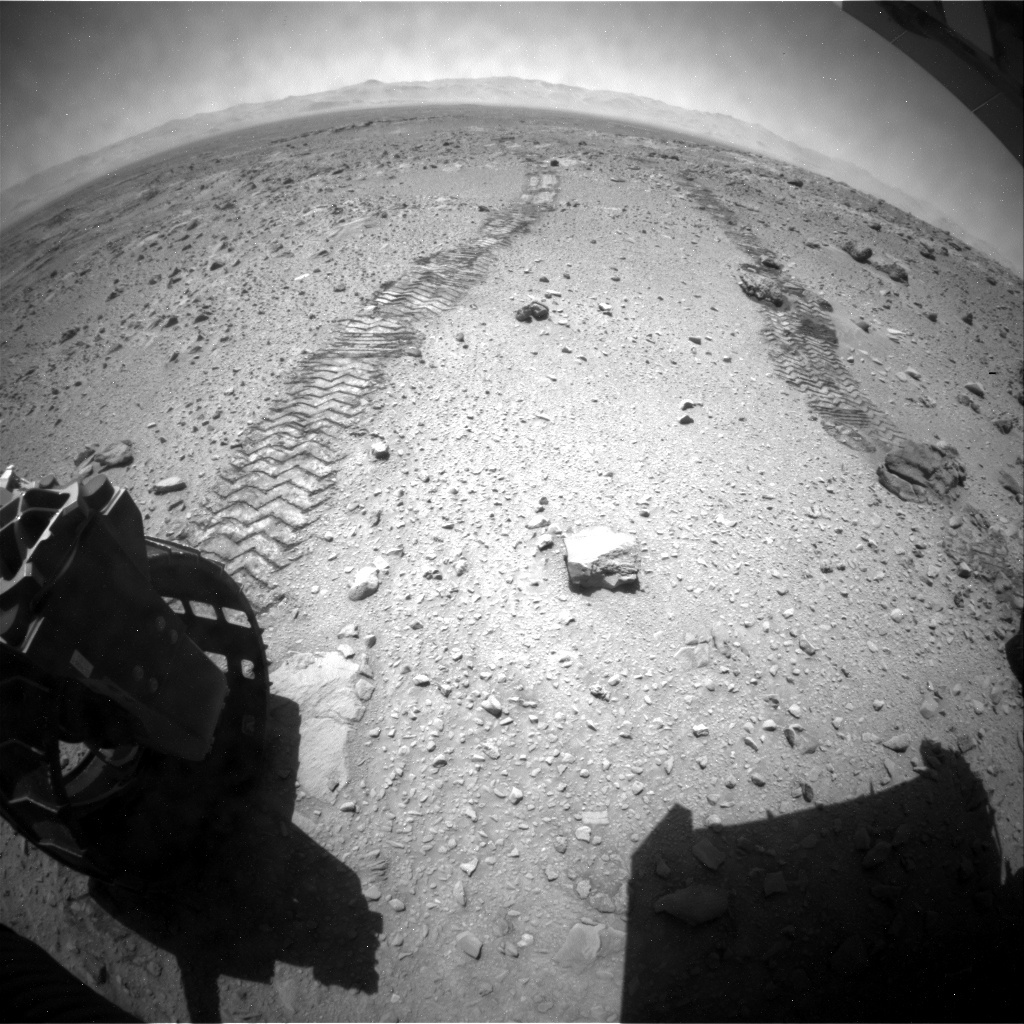NASA's Mars rover Curiosity acquired this image using its Rear Hazard Avoidance Cameras (Rear Hazcams) on Sol 512