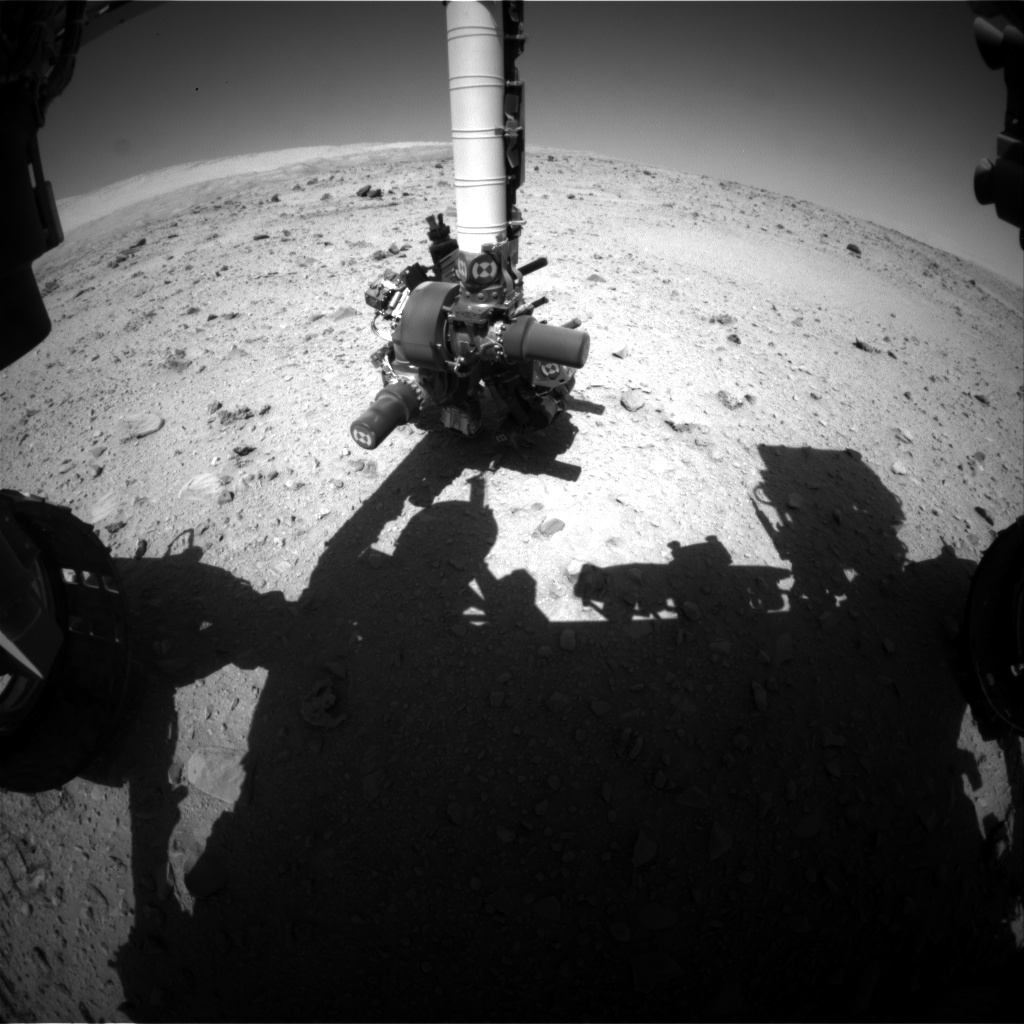 NASA's Mars rover Curiosity acquired this image using its Front Hazard Avoidance Cameras (Front Hazcams) on Sol 513