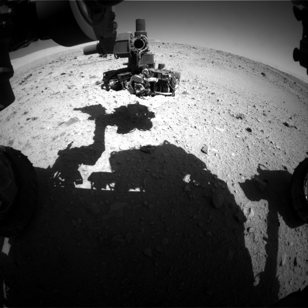 Nasa's Mars rover Curiosity acquired this image using its Front Hazard Avoidance Camera (Front Hazcam) on Sol 513, at drive 534, site number 25