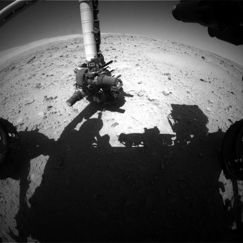 Nasa's Mars rover Curiosity acquired this image using its Front Hazard Avoidance Camera (Front Hazcam) on Sol 513, at drive 510, site number 25