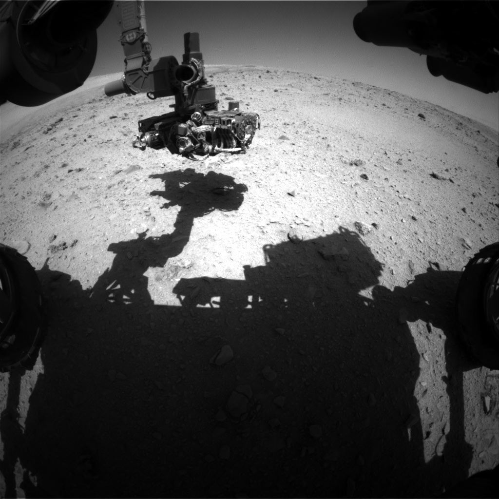 Nasa's Mars rover Curiosity acquired this image using its Front Hazard Avoidance Camera (Front Hazcam) on Sol 513, at drive 522, site number 25