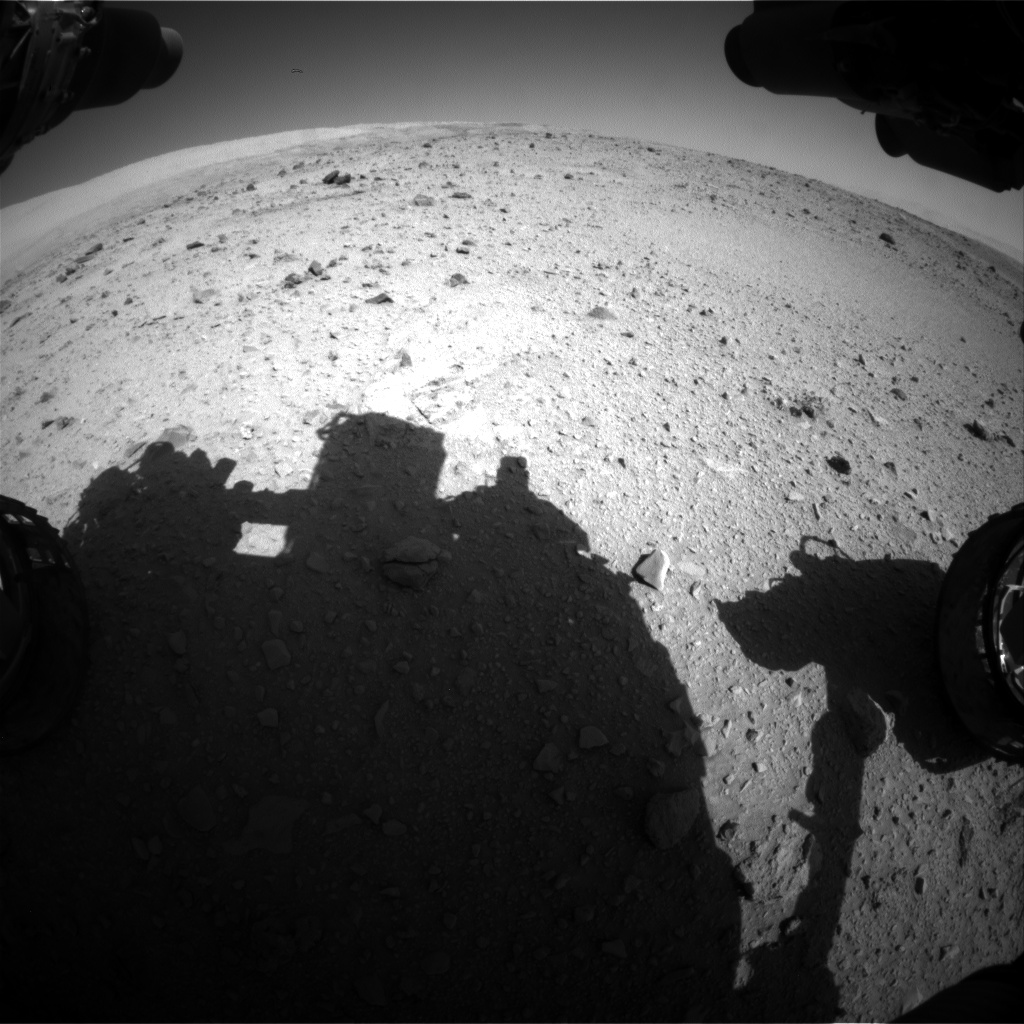 Nasa's Mars rover Curiosity acquired this image using its Front Hazard Avoidance Camera (Front Hazcam) on Sol 513, at drive 540, site number 25