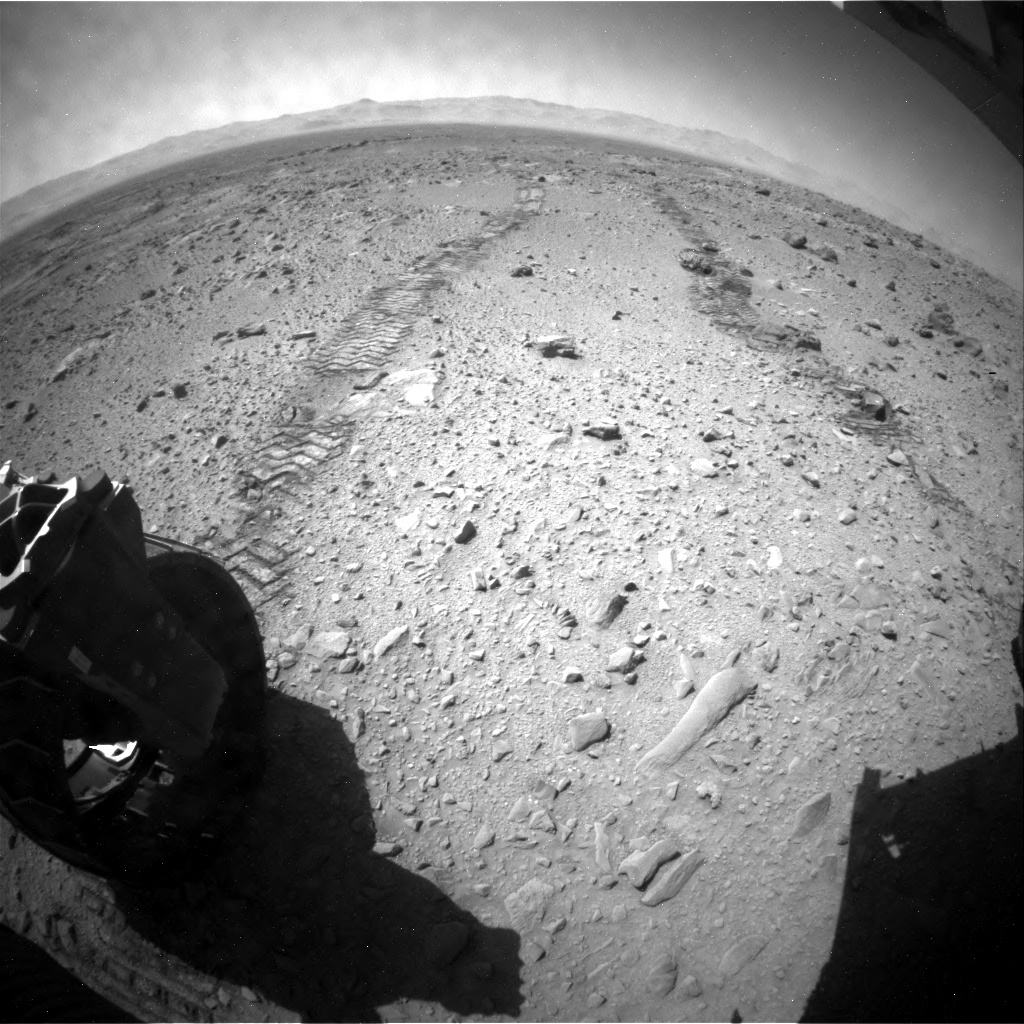 NASA's Mars rover Curiosity acquired this image using its Rear Hazard Avoidance Cameras (Rear Hazcams) on Sol 513