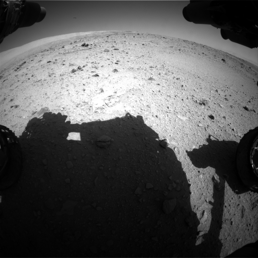 NASA's Mars rover Curiosity acquired this image using its Front Hazard Avoidance Cameras (Front Hazcams) on Sol 514