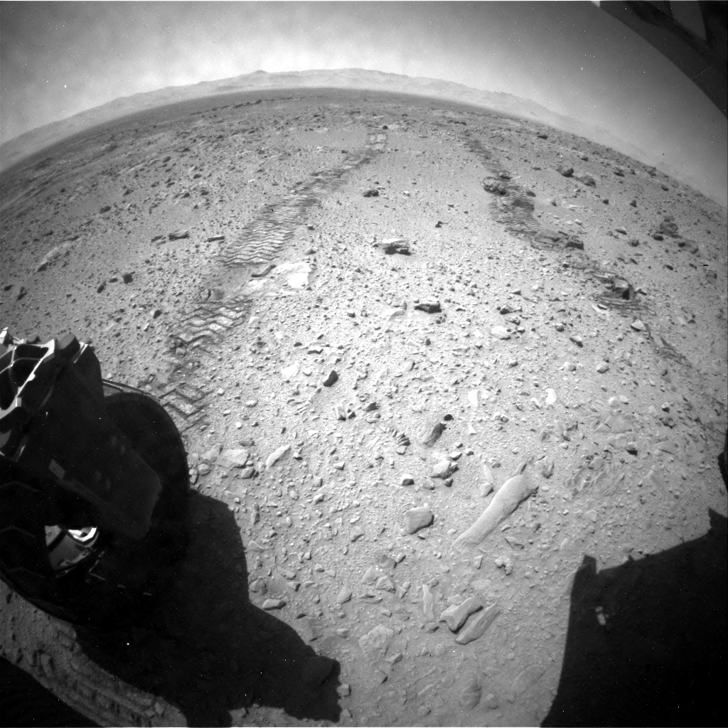 NASA's Mars rover Curiosity acquired this image using its Rear Hazard Avoidance Cameras (Rear Hazcams) on Sol 514