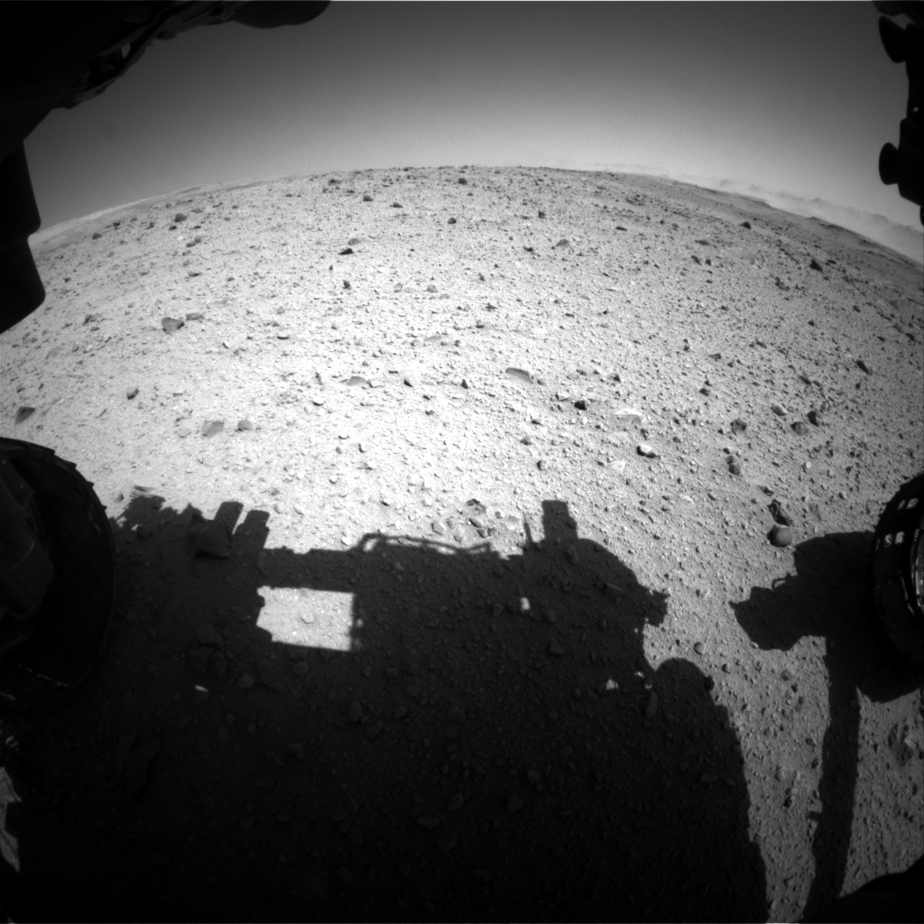 Nasa's Mars rover Curiosity acquired this image using its Front Hazard Avoidance Camera (Front Hazcam) on Sol 515, at drive 618, site number 25