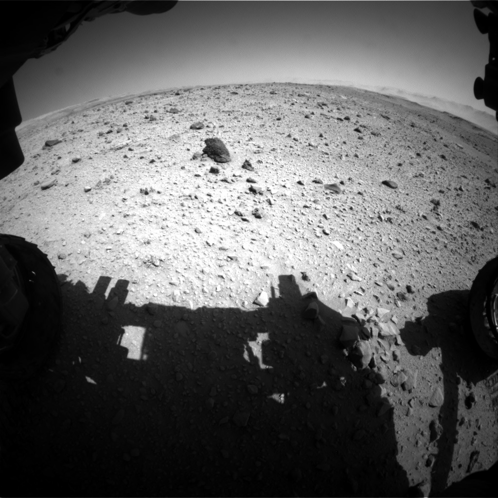 NASA's Mars rover Curiosity acquired this image using its Front Hazard Avoidance Cameras (Front Hazcams) on Sol 515