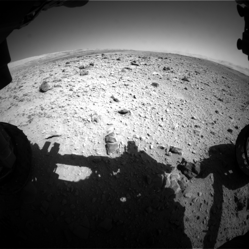 Nasa's Mars rover Curiosity acquired this image using its Front Hazard Avoidance Camera (Front Hazcam) on Sol 515, at drive 750, site number 25