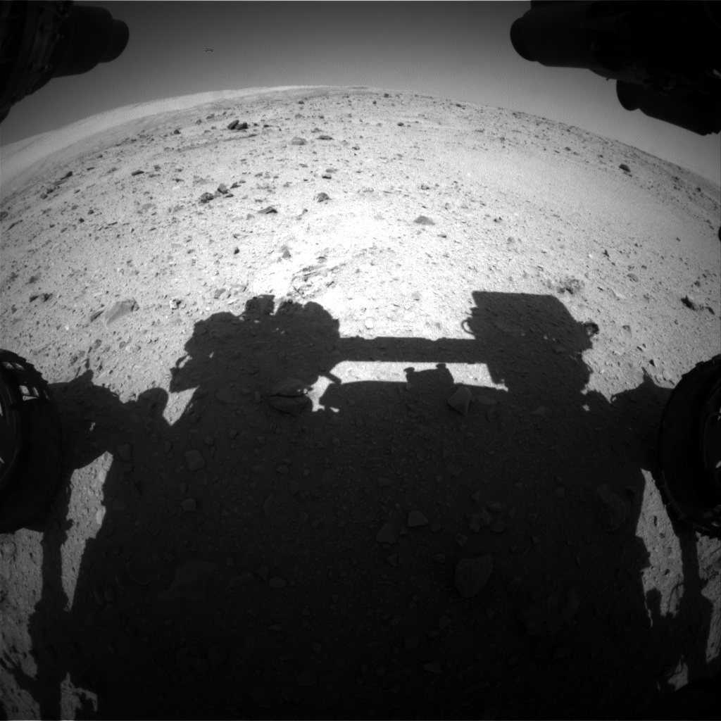 Nasa's Mars rover Curiosity acquired this image using its Front Hazard Avoidance Camera (Front Hazcam) on Sol 515, at drive 540, site number 25