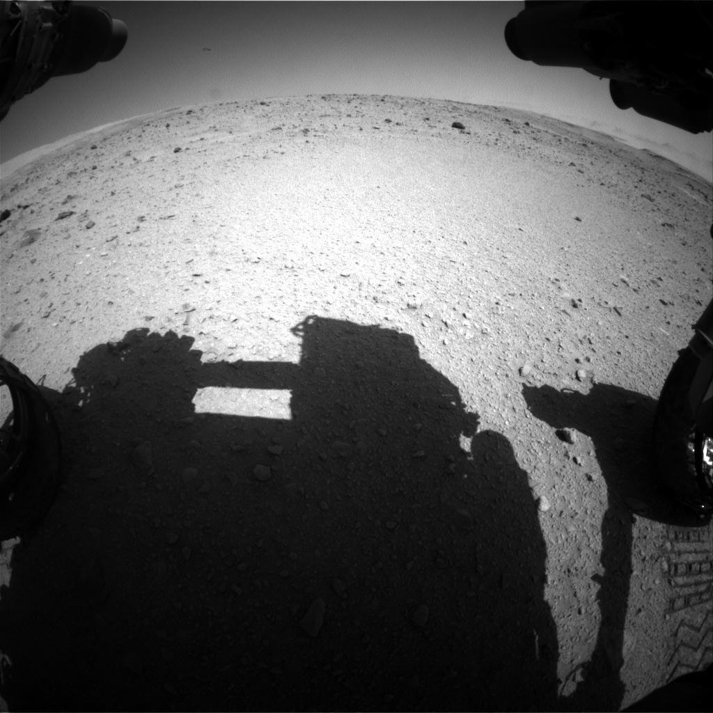 Nasa's Mars rover Curiosity acquired this image using its Front Hazard Avoidance Camera (Front Hazcam) on Sol 515, at drive 552, site number 25