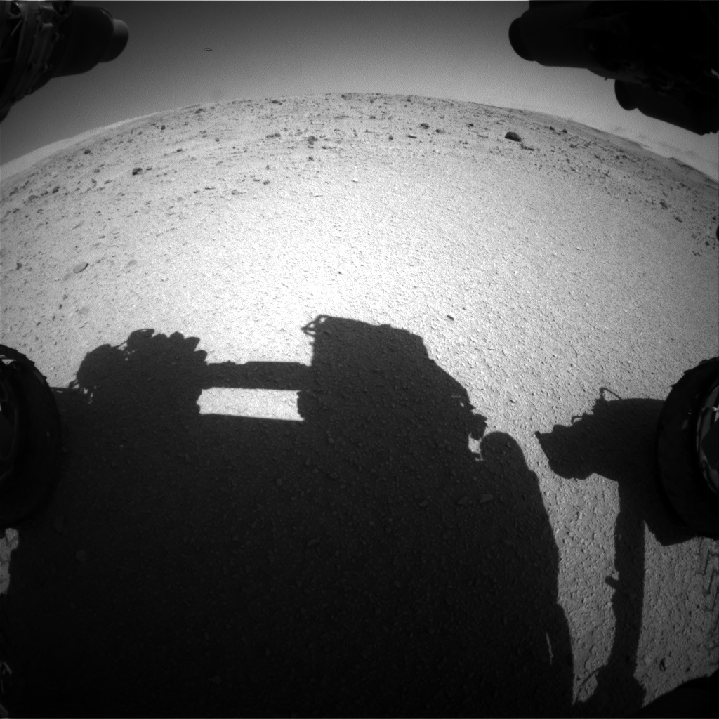 Nasa's Mars rover Curiosity acquired this image using its Front Hazard Avoidance Camera (Front Hazcam) on Sol 515, at drive 564, site number 25