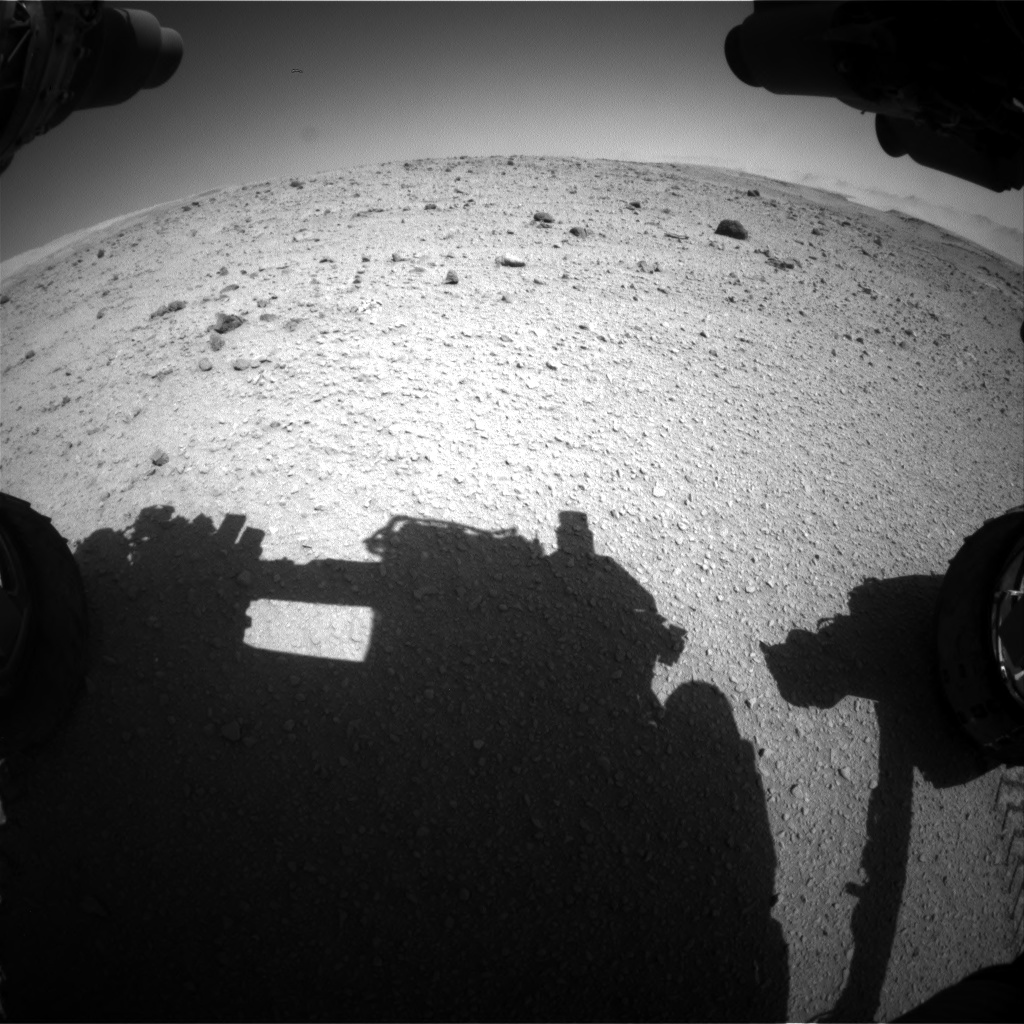 Nasa's Mars rover Curiosity acquired this image using its Front Hazard Avoidance Camera (Front Hazcam) on Sol 515, at drive 582, site number 25