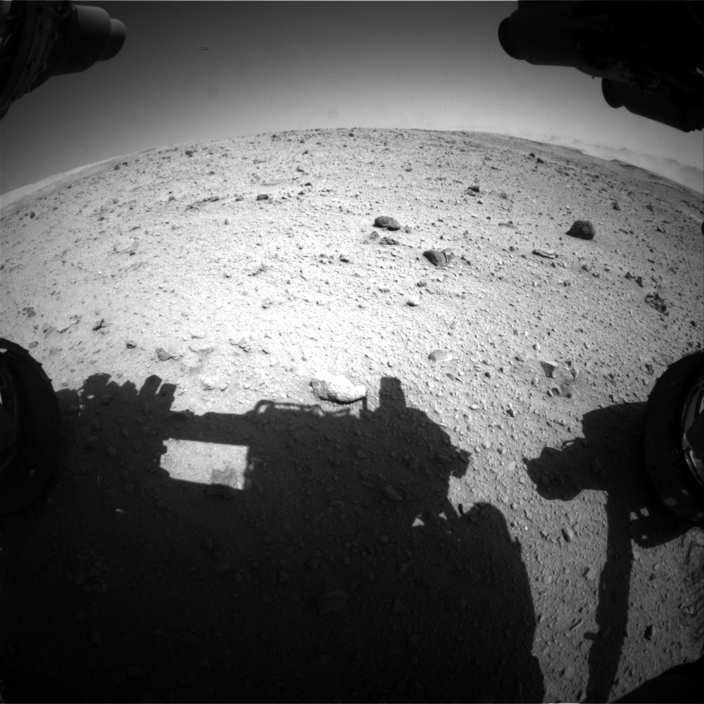 Nasa's Mars rover Curiosity acquired this image using its Front Hazard Avoidance Camera (Front Hazcam) on Sol 515, at drive 594, site number 25