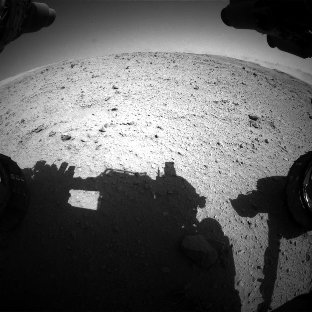 Nasa's Mars rover Curiosity acquired this image using its Front Hazard Avoidance Camera (Front Hazcam) on Sol 515, at drive 606, site number 25