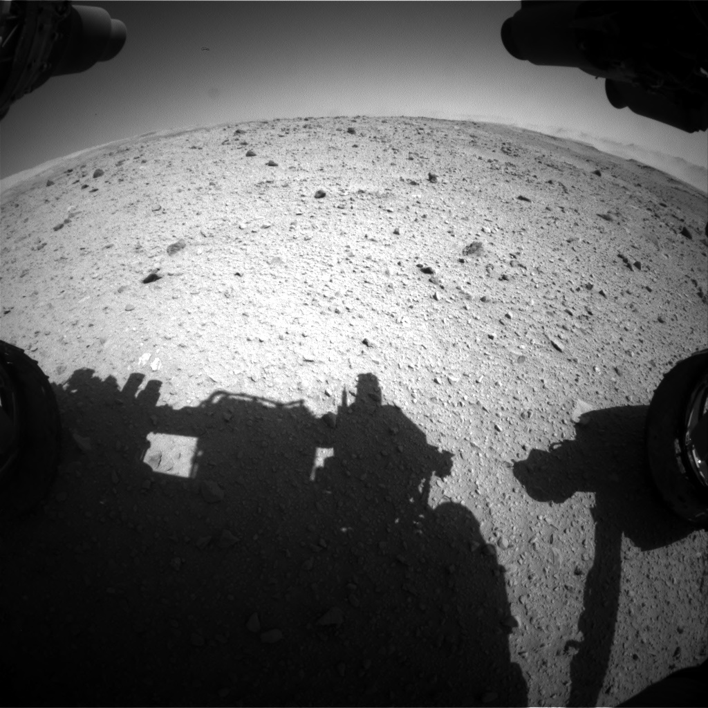 Nasa's Mars rover Curiosity acquired this image using its Front Hazard Avoidance Camera (Front Hazcam) on Sol 515, at drive 630, site number 25
