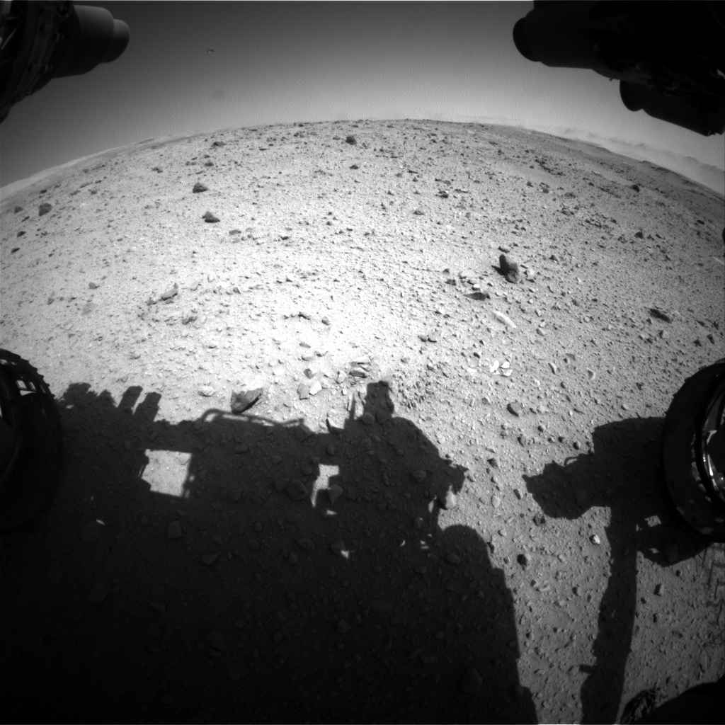Nasa's Mars rover Curiosity acquired this image using its Front Hazard Avoidance Camera (Front Hazcam) on Sol 515, at drive 642, site number 25