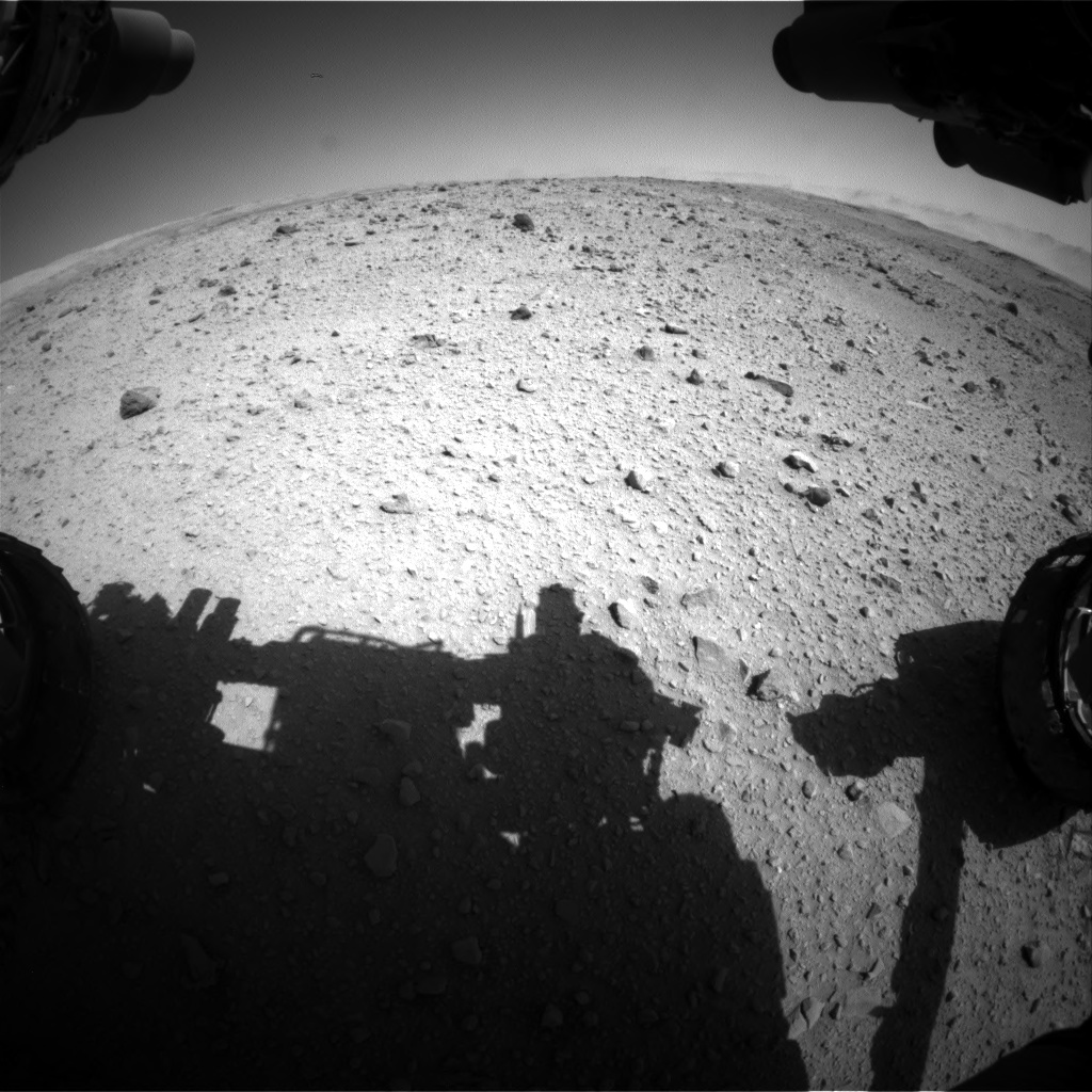 Nasa's Mars rover Curiosity acquired this image using its Front Hazard Avoidance Camera (Front Hazcam) on Sol 515, at drive 654, site number 25