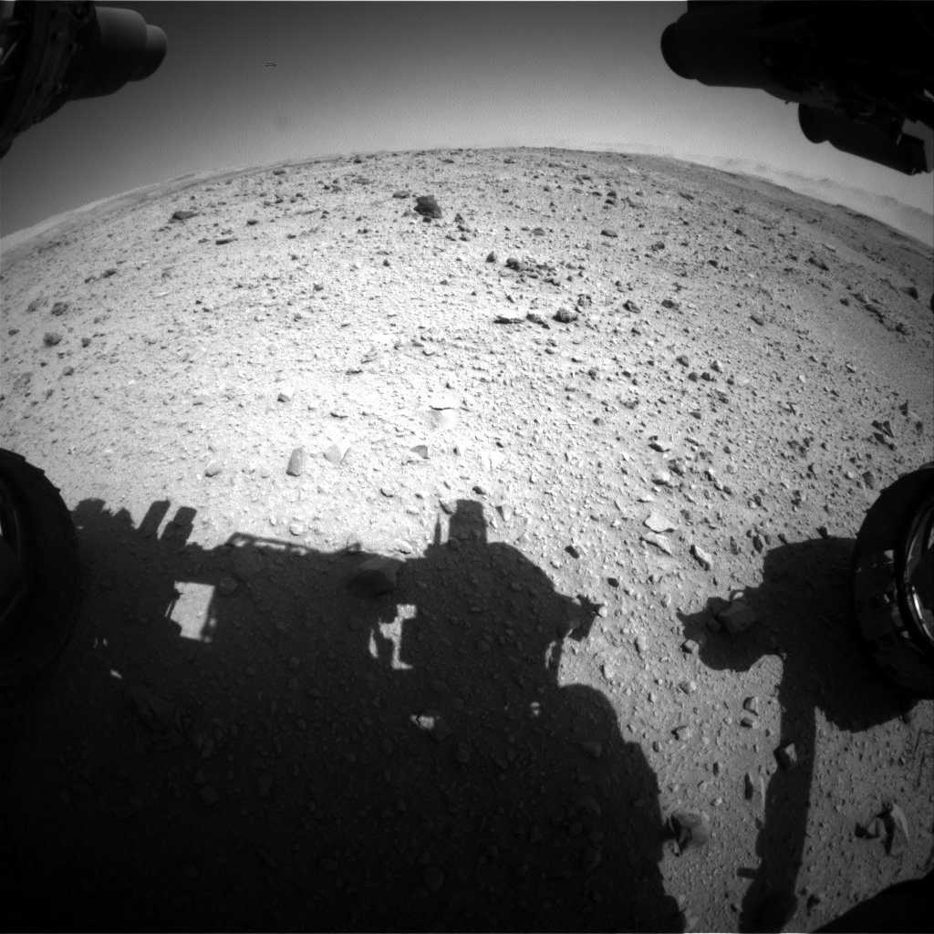 Nasa's Mars rover Curiosity acquired this image using its Front Hazard Avoidance Camera (Front Hazcam) on Sol 515, at drive 666, site number 25