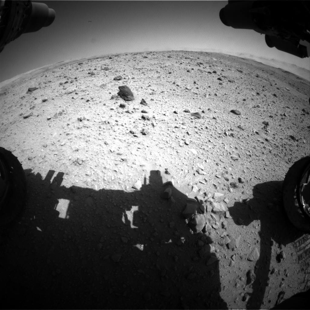 Nasa's Mars rover Curiosity acquired this image using its Front Hazard Avoidance Camera (Front Hazcam) on Sol 515, at drive 678, site number 25