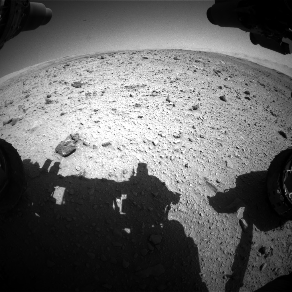 Nasa's Mars rover Curiosity acquired this image using its Front Hazard Avoidance Camera (Front Hazcam) on Sol 515, at drive 696, site number 25