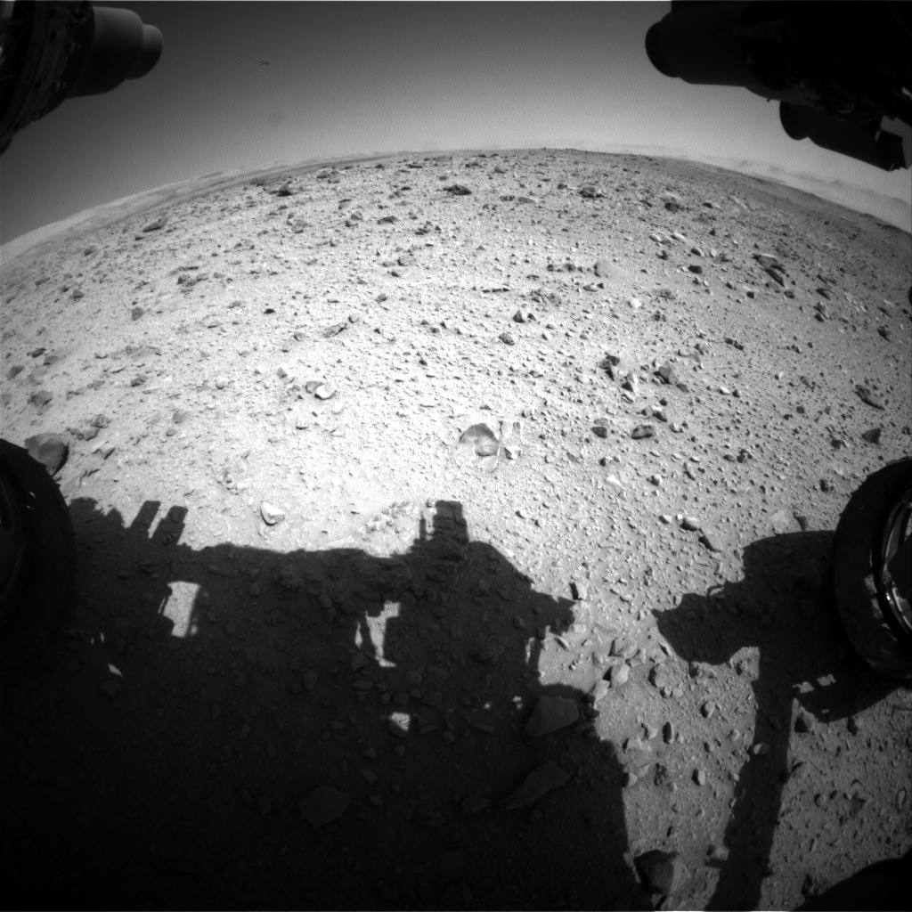 Nasa's Mars rover Curiosity acquired this image using its Front Hazard Avoidance Camera (Front Hazcam) on Sol 515, at drive 708, site number 25
