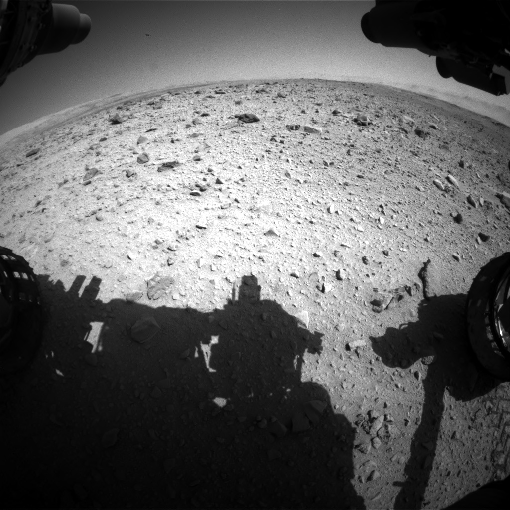 Nasa's Mars rover Curiosity acquired this image using its Front Hazard Avoidance Camera (Front Hazcam) on Sol 515, at drive 720, site number 25