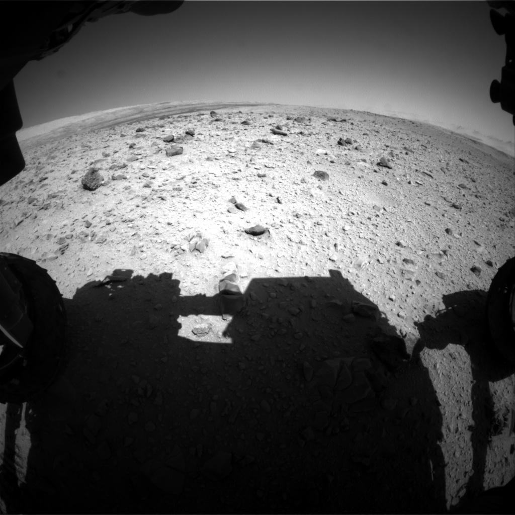 NASA's Mars rover Curiosity acquired this image using its Front Hazard Avoidance Cameras (Front Hazcams) on Sol 516