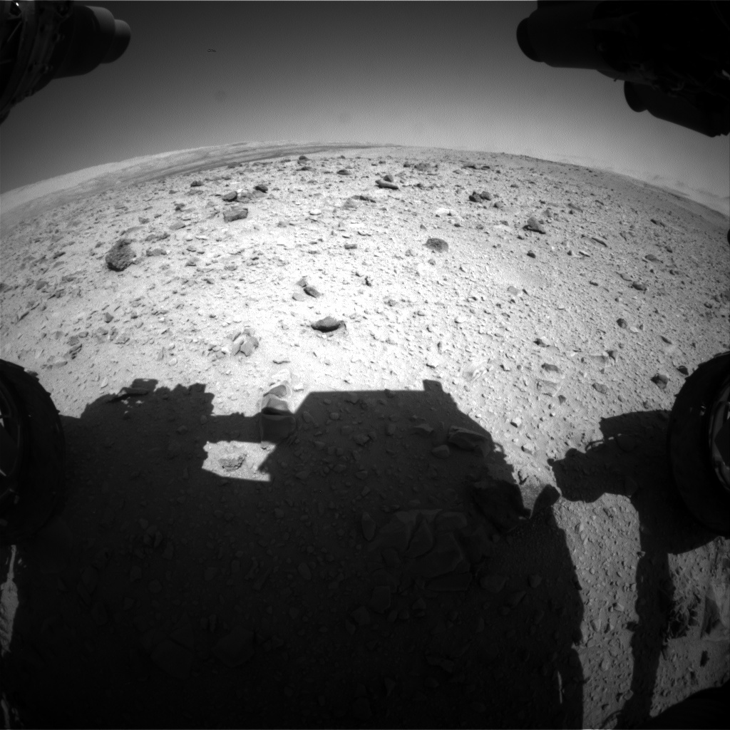 Nasa's Mars rover Curiosity acquired this image using its Front Hazard Avoidance Camera (Front Hazcam) on Sol 516, at drive 750, site number 25