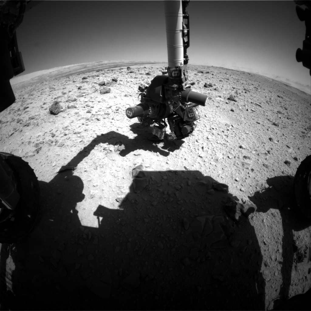 NASA's Mars rover Curiosity acquired this image using its Front Hazard Avoidance Cameras (Front Hazcams) on Sol 517