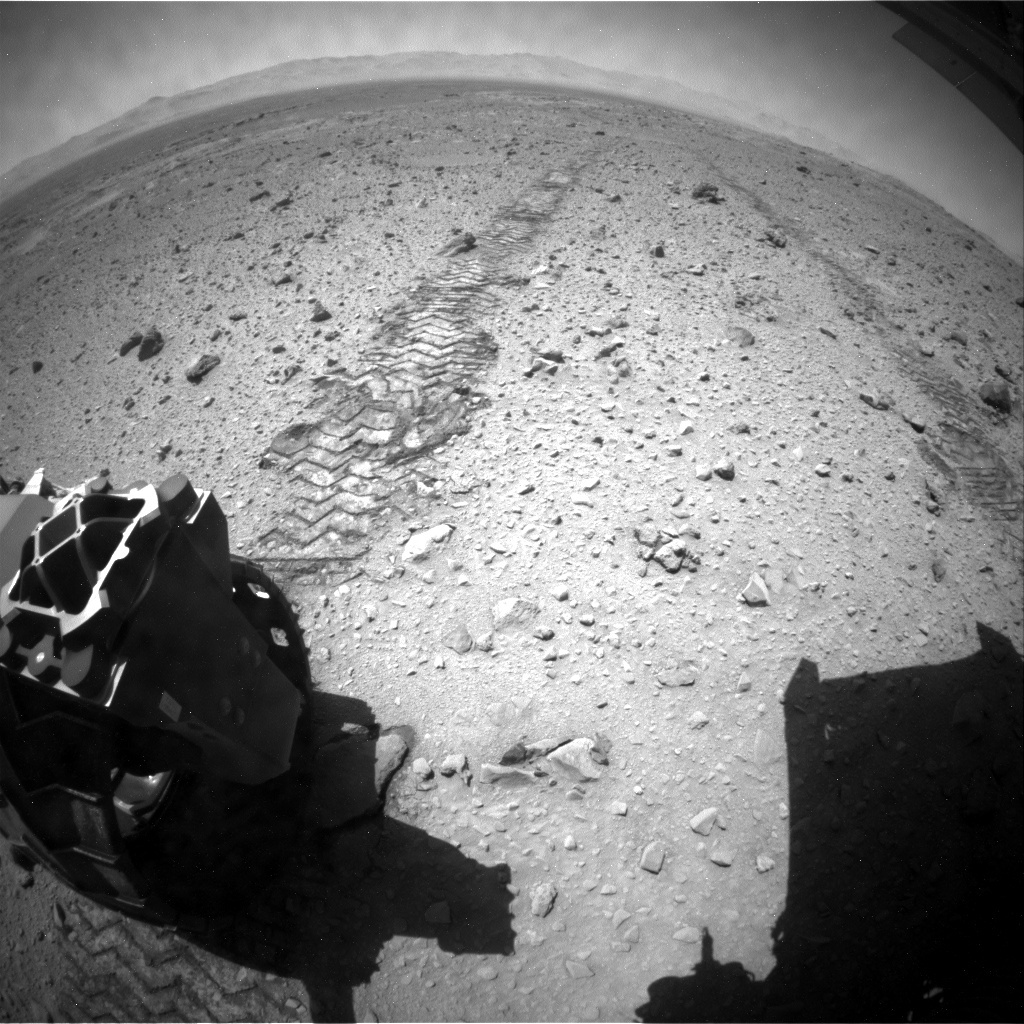 NASA's Mars rover Curiosity acquired this image using its Rear Hazard Avoidance Cameras (Rear Hazcams) on Sol 517