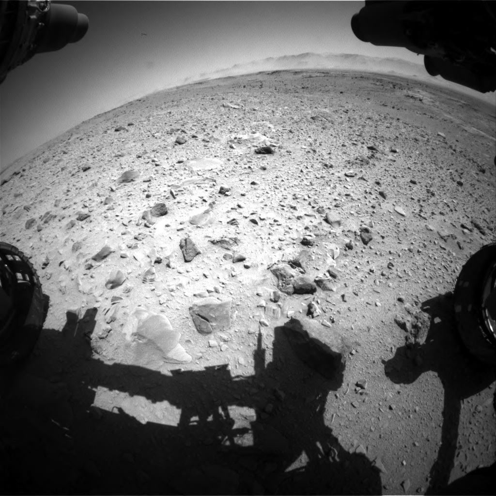 Nasa's Mars rover Curiosity acquired this image using its Front Hazard Avoidance Camera (Front Hazcam) on Sol 518, at drive 786, site number 25