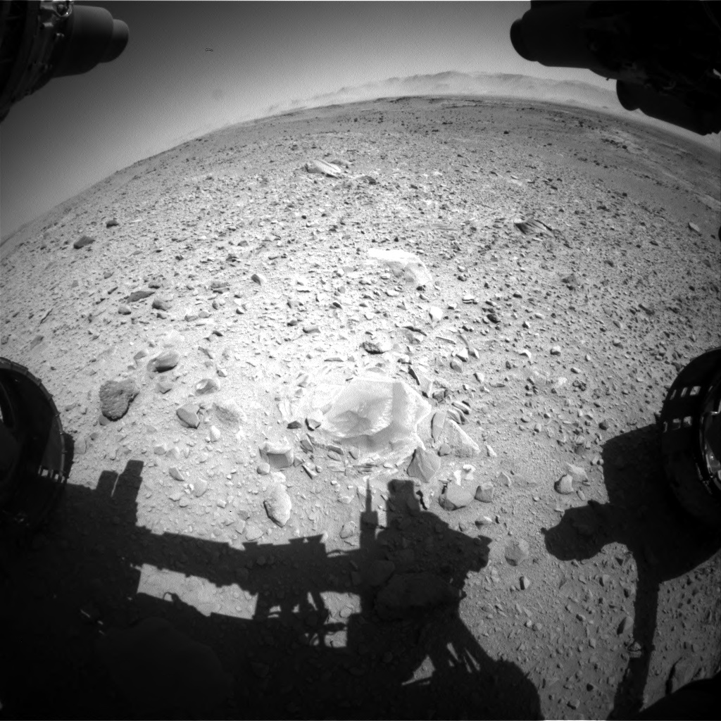 Nasa's Mars rover Curiosity acquired this image using its Front Hazard Avoidance Camera (Front Hazcam) on Sol 518, at drive 798, site number 25