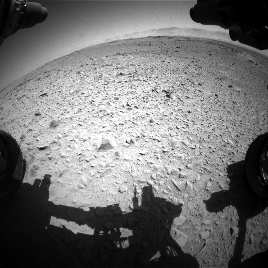 Nasa's Mars rover Curiosity acquired this image using its Front Hazard Avoidance Camera (Front Hazcam) on Sol 518, at drive 840, site number 25