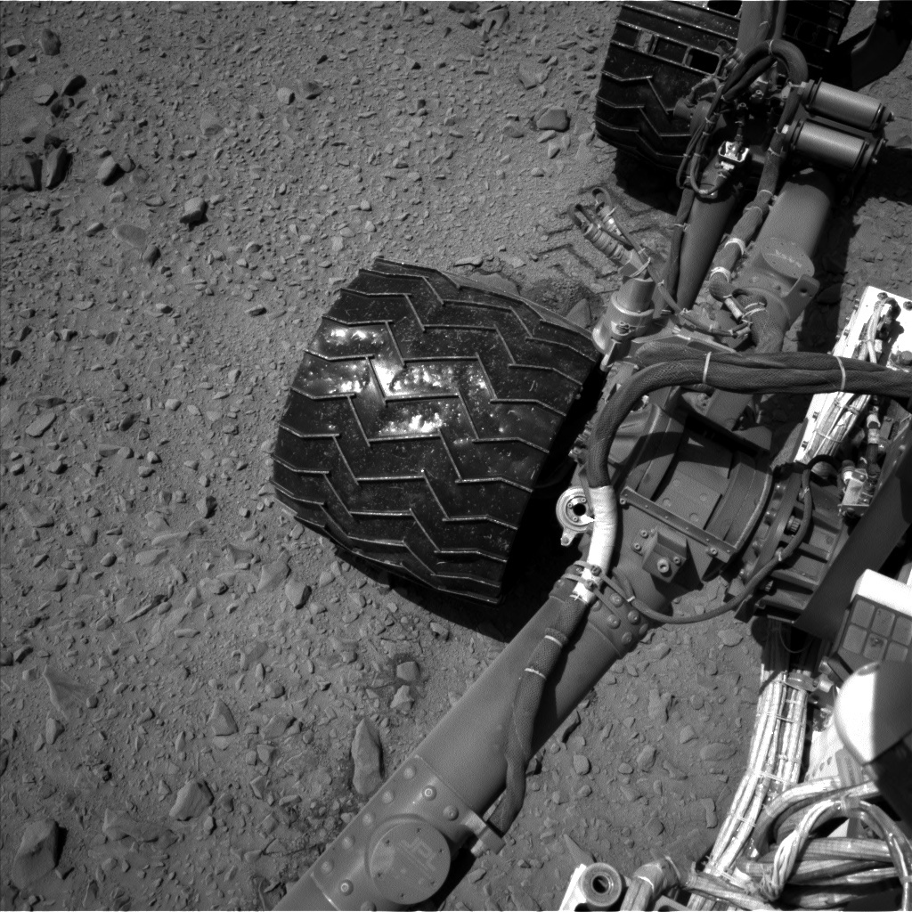 NASA's Mars rover Curiosity acquired this image using its Left Navigation Camera (Navcams) on Sol 518