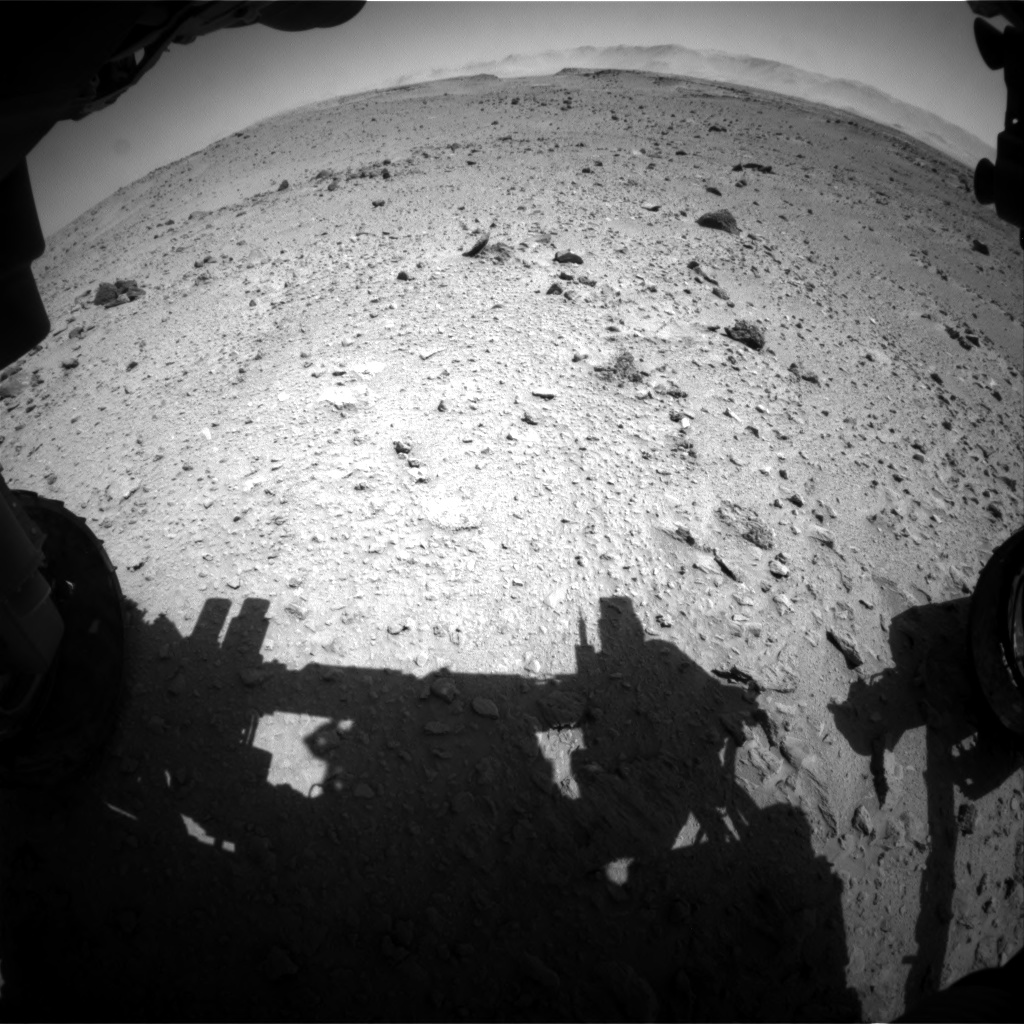 Nasa's Mars rover Curiosity acquired this image using its Front Hazard Avoidance Camera (Front Hazcam) on Sol 519, at drive 934, site number 25