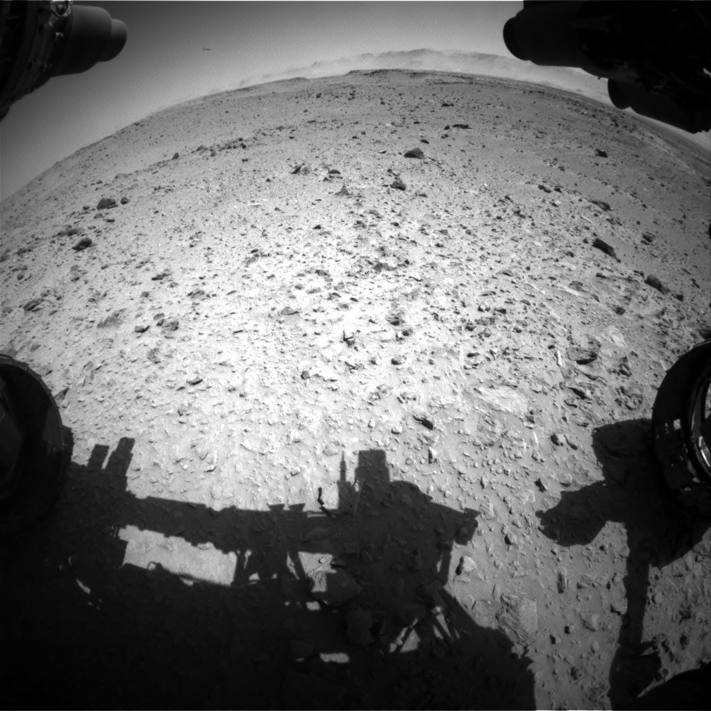 Nasa's Mars rover Curiosity acquired this image using its Front Hazard Avoidance Camera (Front Hazcam) on Sol 519, at drive 922, site number 25