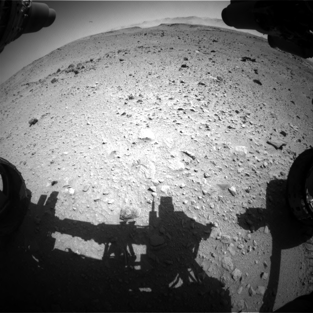 Nasa's Mars rover Curiosity acquired this image using its Front Hazard Avoidance Camera (Front Hazcam) on Sol 519, at drive 964, site number 25