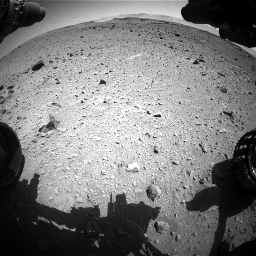 Nasa's Mars rover Curiosity acquired this image using its Front Hazard Avoidance Camera (Front Hazcam) on Sol 519, at drive 1030, site number 25