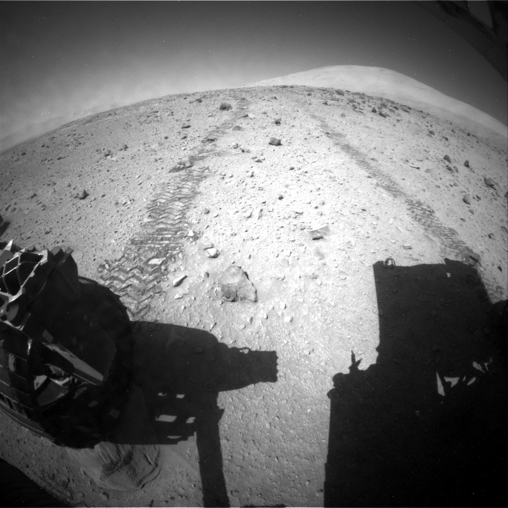NASA's Mars rover Curiosity acquired this image using its Rear Hazard Avoidance Cameras (Rear Hazcams) on Sol 519