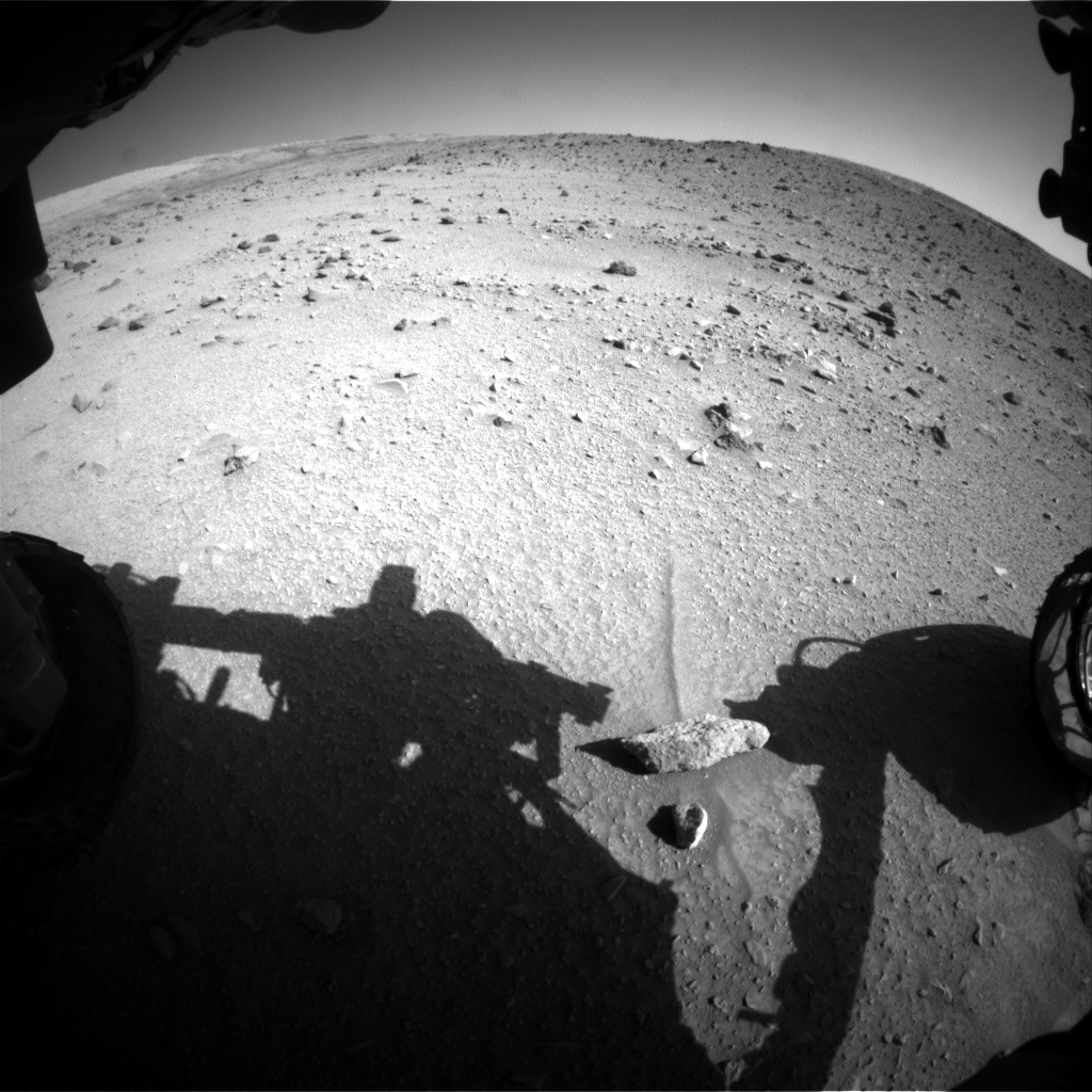 NASA's Mars rover Curiosity acquired this image using its Front Hazard Avoidance Cameras (Front Hazcams) on Sol 520