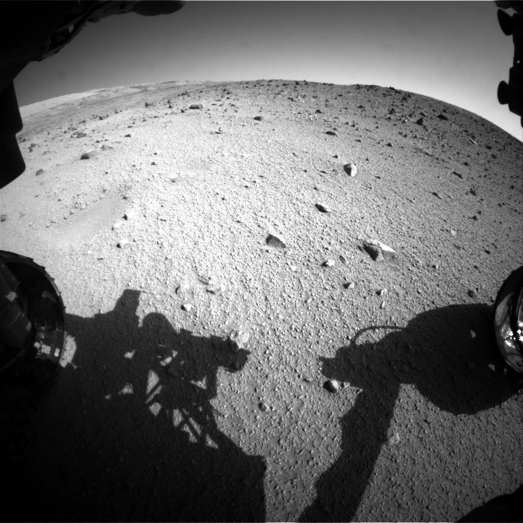 Nasa's Mars rover Curiosity acquired this image using its Front Hazard Avoidance Camera (Front Hazcam) on Sol 520, at drive 1238, site number 25